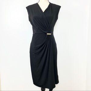 MICHAEL Michael Kors Sleeveless Ruched Dress Sm